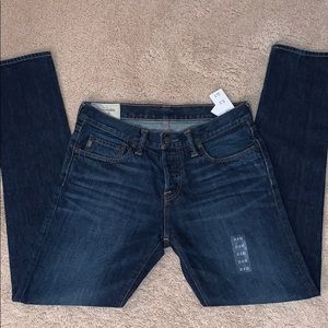 NWT Vintage Abercrombie Classic Taper Skinny Jeans
